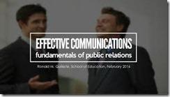 Effective Public Relation